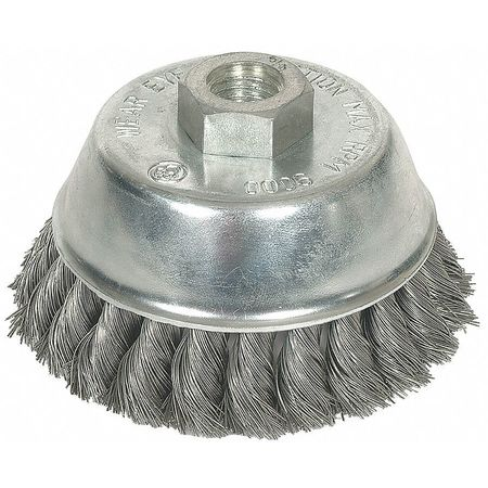 "Knot Wire Cup Wire Brush,  6"" Dia,  0.0230 Wire"