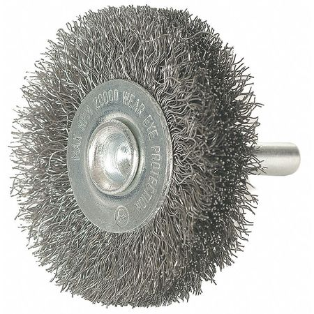 "Crimped Wire Wheel,  3"" Dia,  0.0080 Wire"