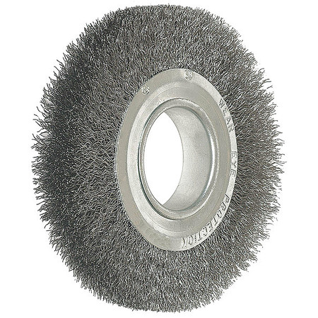 "Crimped Wire Wheel,  8"" Dia,  0.0140 Wire"
