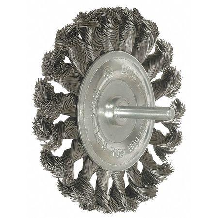 "Knot Wire Wheel,  3 1/4"" Dia,  0.0140 Wire"