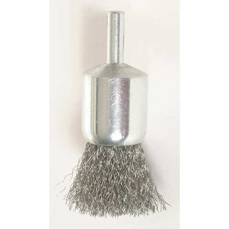 "Crimped End Wire Brush,  1"" Dia,  0.0060 Wire"