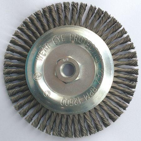 "Stringer Knot Wheel,  6"" Dia,  0.0200 Wire"