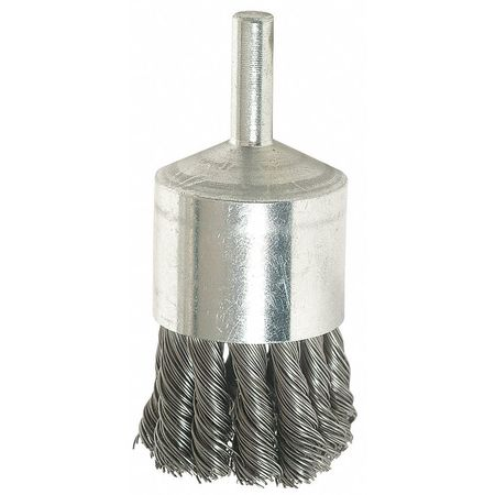 "Knot End Wire Brush,  1 1/8"" Dia,  0.0140 Wire"