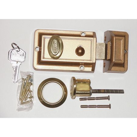 Auxiliary Lock, Night Latch, Bronz
