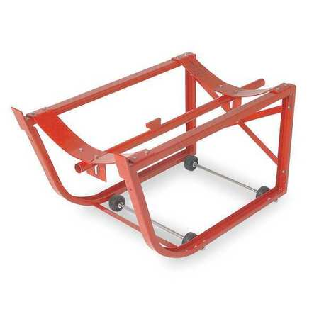 Drum Cradle, Cap 600 Lb, 4 Rigid Casters