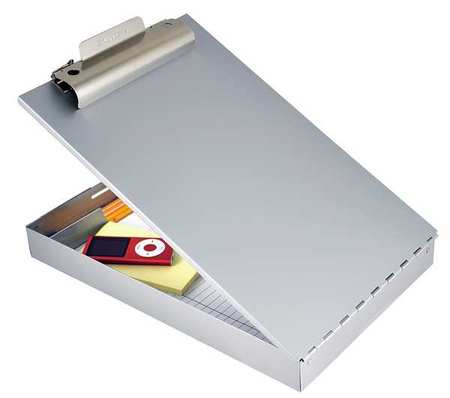 Portable Storage Clipboard, Legal, Silver