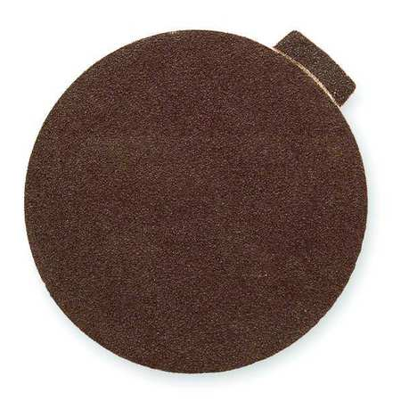 PSA Sanding Disc, AlO, Cloth, 6in, 80 Grit