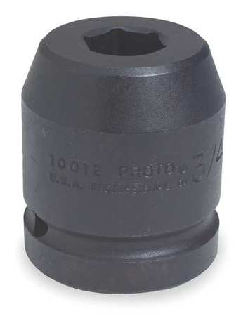 Impact Socket, 1 In Dr, 3-7/8 In, 6 pt