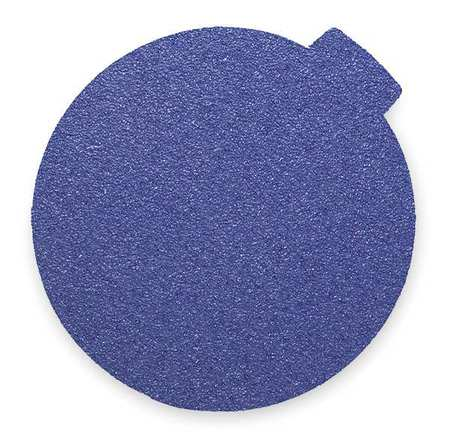 PSA Sanding Disc, ZircAlO, Cloth, 12in, 80G