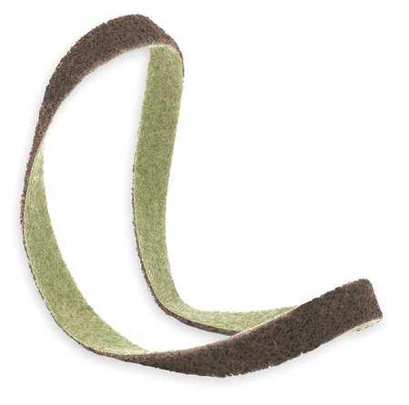 Sanding Belt, 3/4Wx18 L, NonWoven, AO, CRS