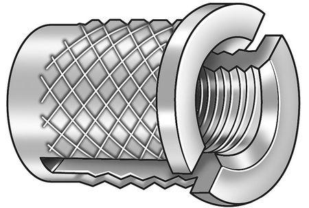 Press Insert, Reverse, 4-40x3/16 L, PK50