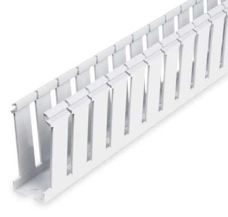 Wire Duct, Wide Slot, White, Width 1 In