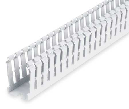 Wire Duct, Narrow Slot, White, Width 1.5 In