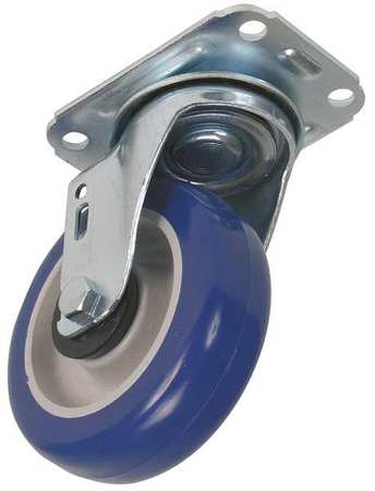 Swivel Plat Castr, Polyurthan, 4 in, 198 lb