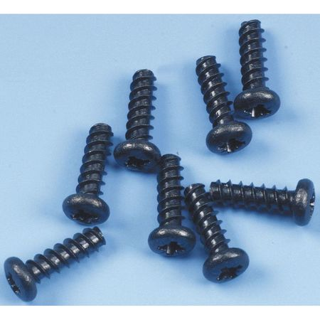 Screw, Self-Tapping, Black, PK8