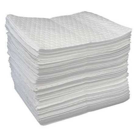 Absorbent Pads, White, 19 In. L, PK100