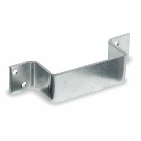 Door Bar Holder, Closed End, Bright Zinc
