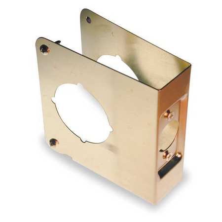 Protector Plate, Brass, Backset 2 3/8 In