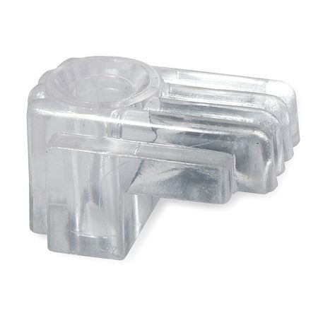 Mirror Clip, Plastic, Length 5/8 In, PK25