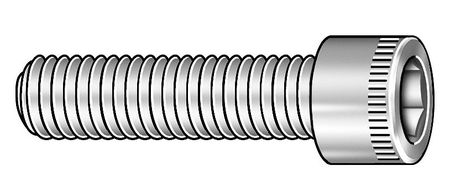 "3/8""-24 x 4"" Black Oxide Alloy Steel Socket Head Cap Screw,  5 pk."