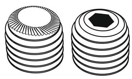 Sckt Set Scrw, Knurl Cup, 1/4-20x3/4, PK100