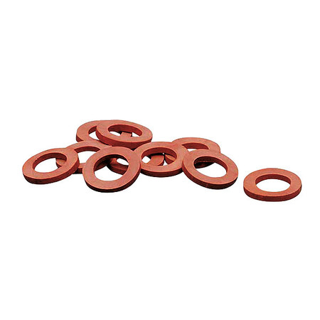 1HLX6 Garden Hose Washer, Rubber, PK10