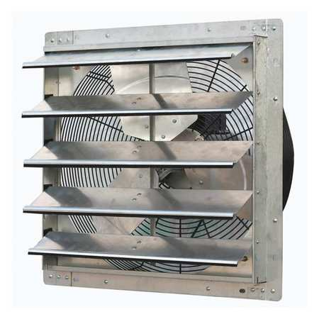 Exhaust Fan, 20 In, 115V, 1/4hp, 1725rpm