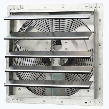 Exhaust Fan, 18 In, 115V, 1/15hp, 1075rpm