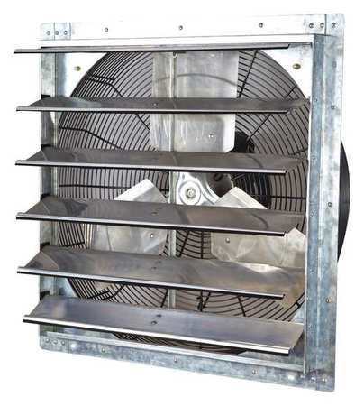 Exhaust Fan, 24 In, 115V, 1/4hp, 1075rpm