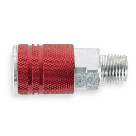 Quick Coupler Body, (M)NPT, 1/4, Steel/Alum