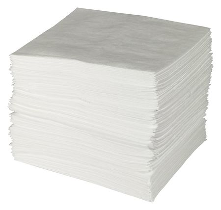 Absorbent Pads, 19 In. L, 23 gal., PK100