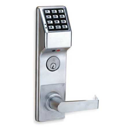 Electronic Lock, Brushed Chrome, 12 Button