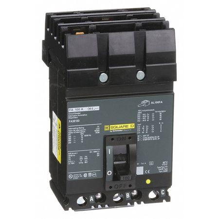 3P Standard Circuit Breaker 100A 600VAC