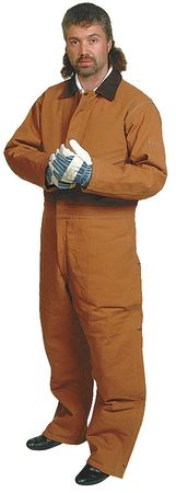 Coverall, Chest 51In., Desert Sand Brown