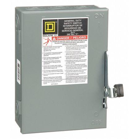 30 Amp 240VAC Single Throw Safety Switch 2P