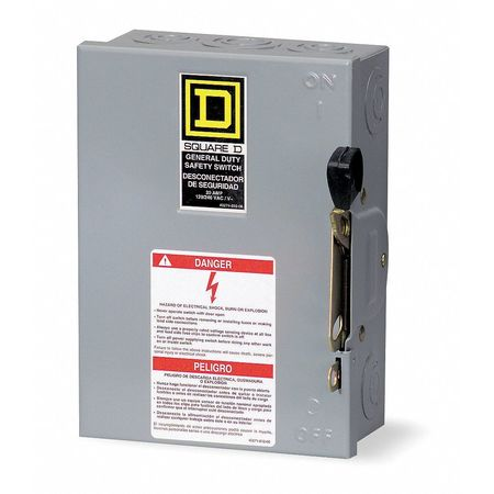 30 Amp 240VAC Single Throw Safety Switch 2P