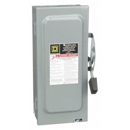 60 Amp 240VAC Single Throw Safety Switch 3P