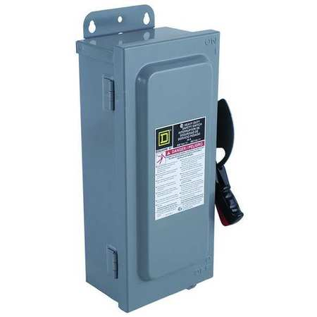 600 Amp 240VAC/DC Single Throw Safety Switch 2P