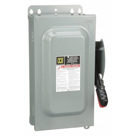 60 Amp 600VAC Single Throw Safety Switch 3P