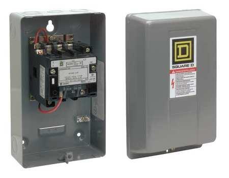 NEMA Magnetic Contactor, 9A, 120VAC, NEMA00