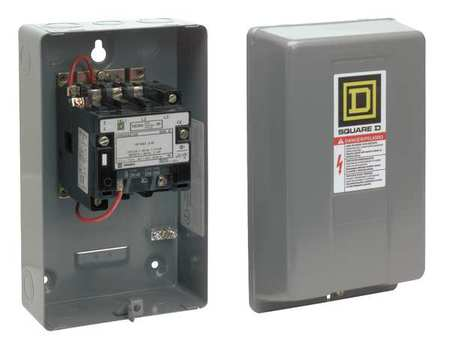 120VAC Non-Reversing Magnetic Contactor 3P 9A NEMA 00