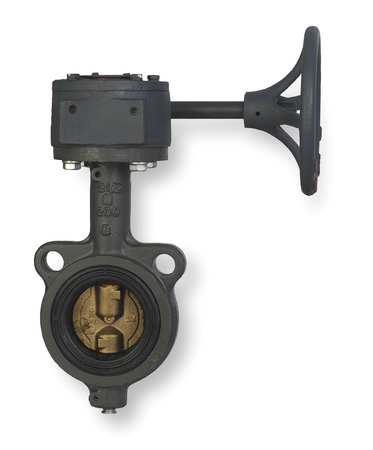 Butterfly Valve, Wafer, 8 In, Gear Handle