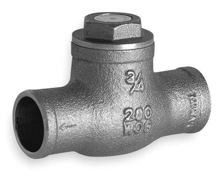 "1"" Solder Brass Swing Check Valve"