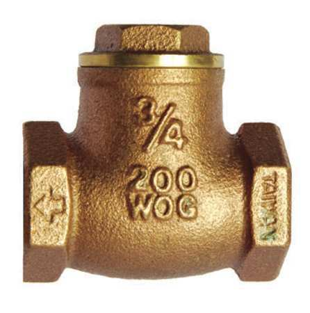 "1-1/2"" FNPT Brass Swing Check Valve"