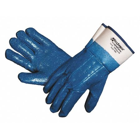 Cut Resistant Gloves, Blue/White, L, PR