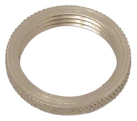 Panel Nut, Round, 1/8-27, Brass, Plain, PK2