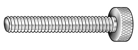 "Thumb Screw,  Knurled,  3/8-16 x 2"",  pk 2"