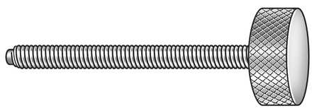 Thumb Screw, Knurled, 3/8-16x2 In, 18-8 SS