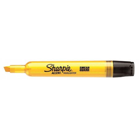Smear Guard Highlighter,  Chisel Tip Yellow PK12