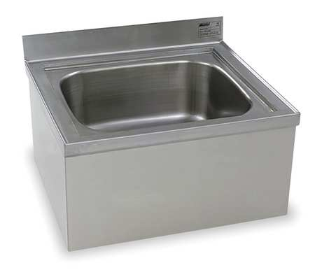 """Mop Sink,  Stainless Steel,  Stainless Steel,  Bowl Size 16"""" x 20"""""""